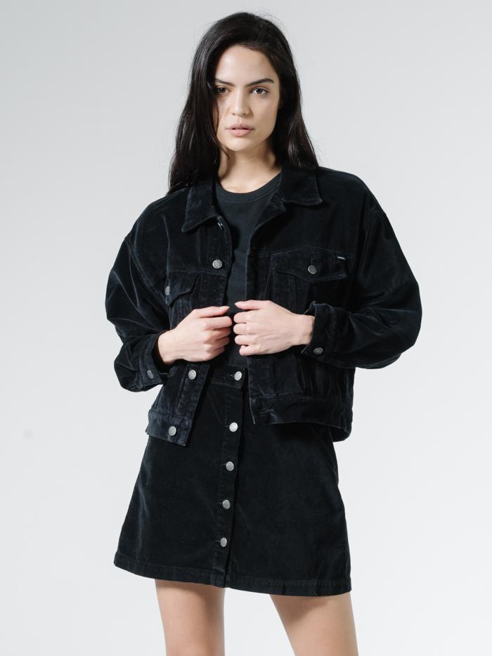 Thrills - Jessie Velvet Jacket - Black