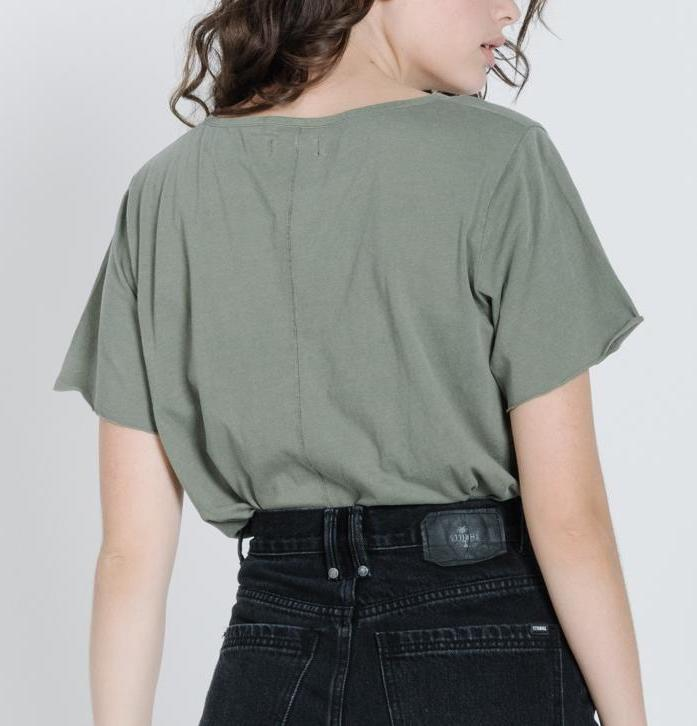 Thrills - Minimal Thrills Loose Fit Tee in Army Green
