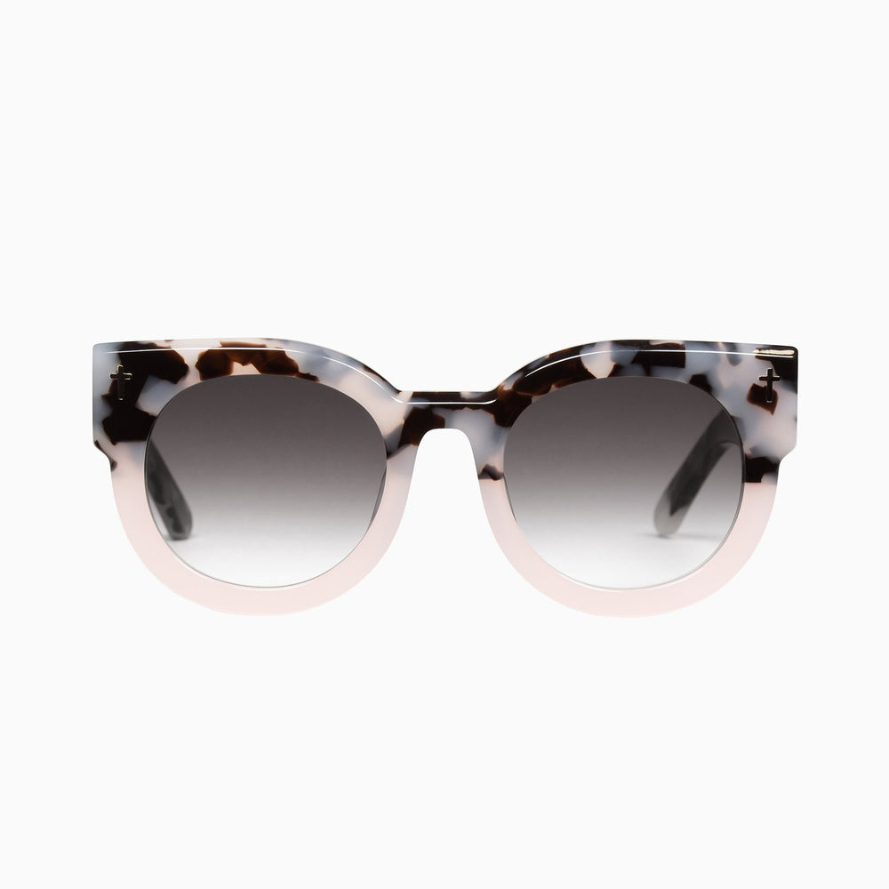 Valley - A Dead Coffin Club Sunglasses in Baby Pink Tort to Baby Pink / Back Gradient Lens