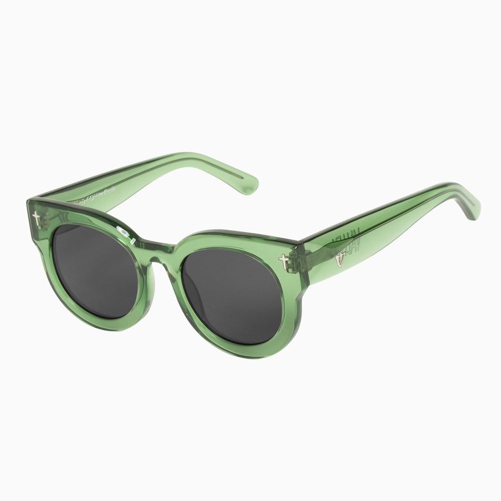 Valley - A Dead Coffin Club Sunglasses in Bottle Green / Black Lens