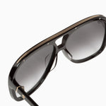 Valley - Bang Sunglasses in Gloss Black w. Gold Metal Trim / Black Gradient Lens
