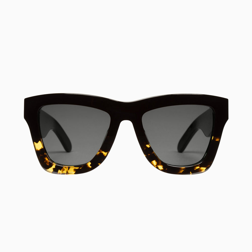 Valley - DB Sunglasses in Black to Tort / Black Lens