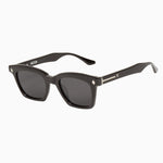 Valley - Hutch Sunglasses in Gloss Black w. Silver Trim / Black Gradient Lens