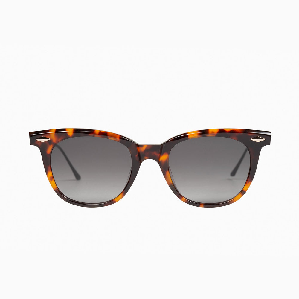 Valley - Mercy Sunglasses in Classic Tort w/ 24k Gold Metal Trim / Black Gradient Lens