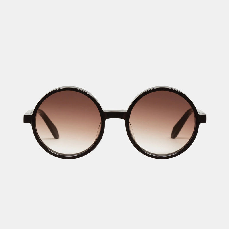 Valley - Prospect Sunglasses in Gloss Black/ Brown Gradient Lens
