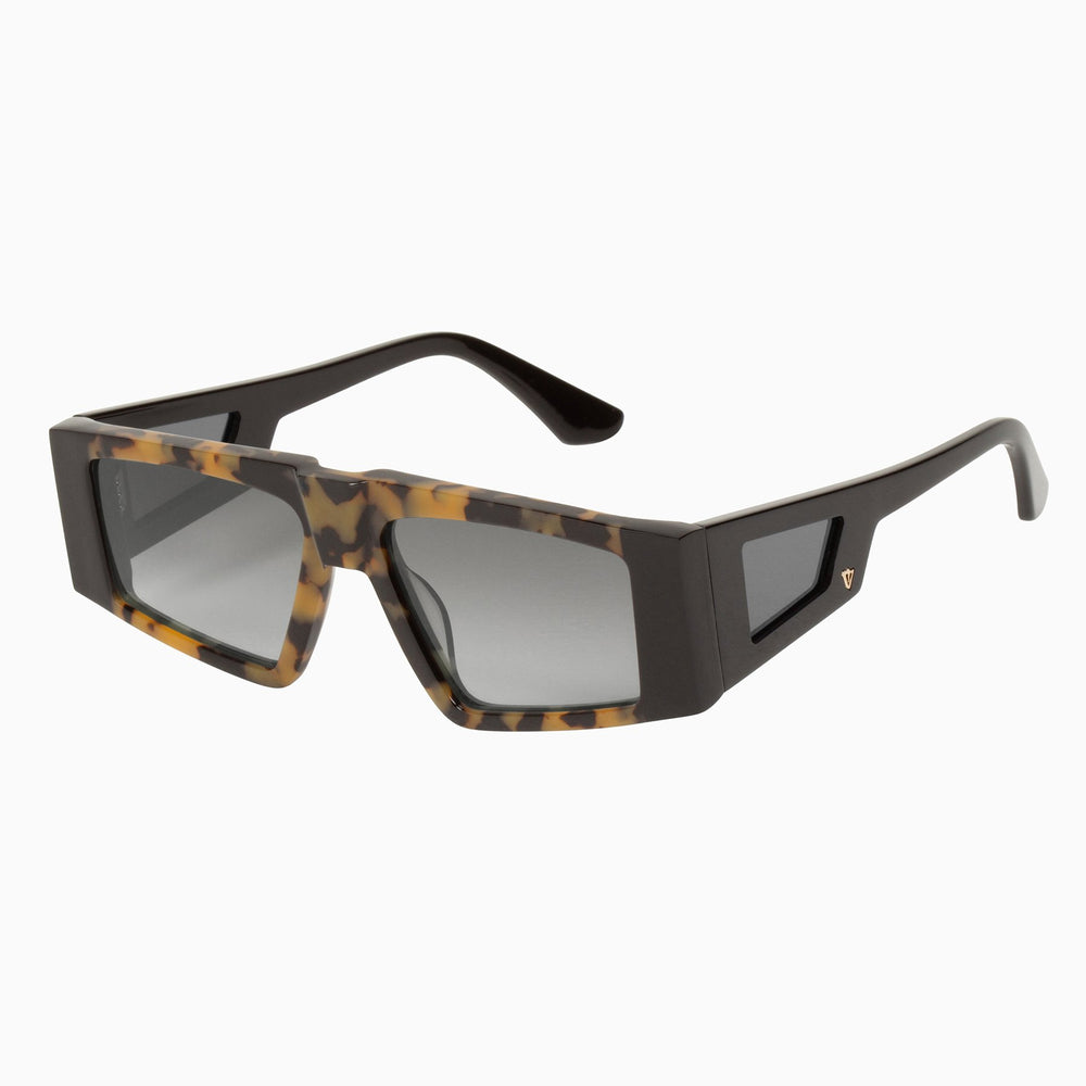 Valley - Untitled Sunglasses in Gloss Black/ Tort Centre/ Black Gradient Lens