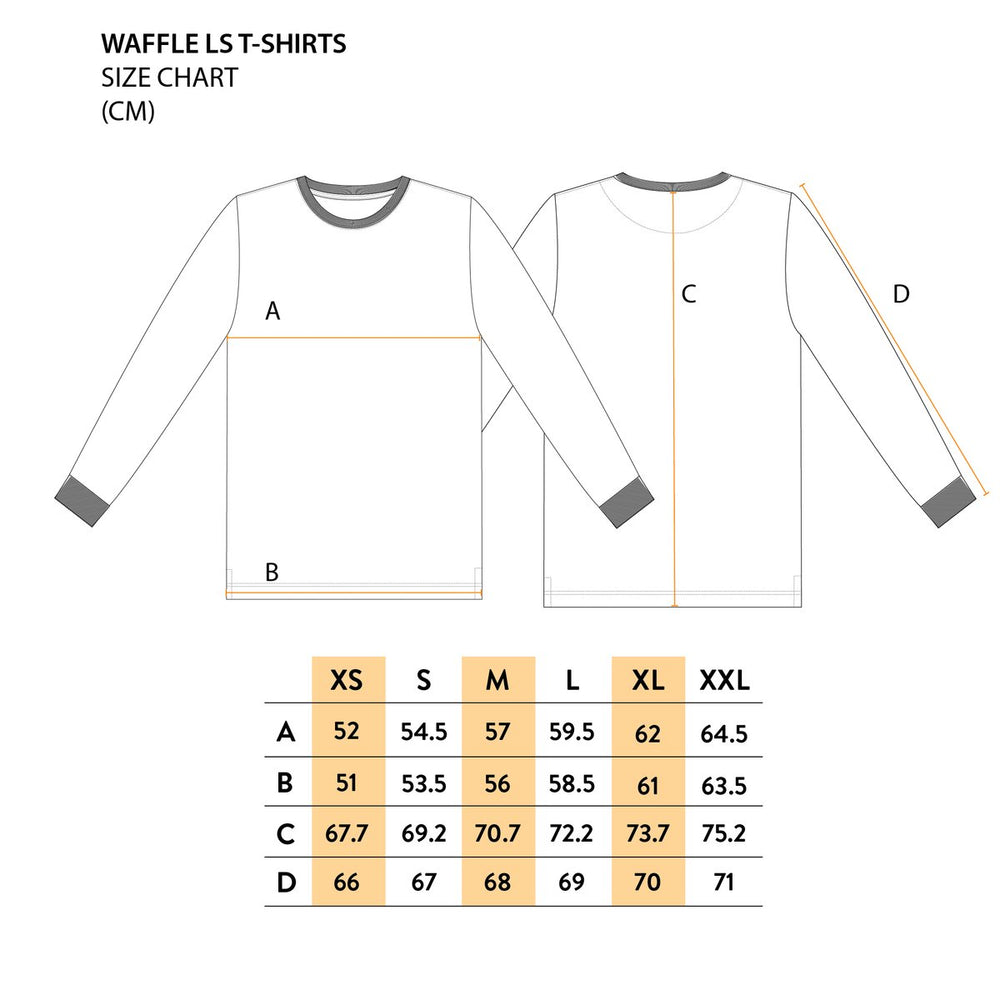Mr Simple - Waffle L/S in Vintage White