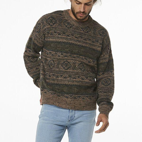 Wrangler - Open Road Sweater in Brown Marle