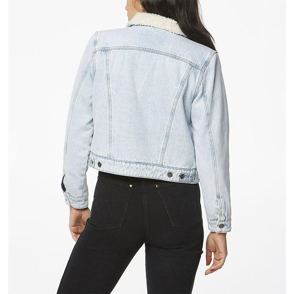 Wrangler - Sherpa Jacket in Silver Blues