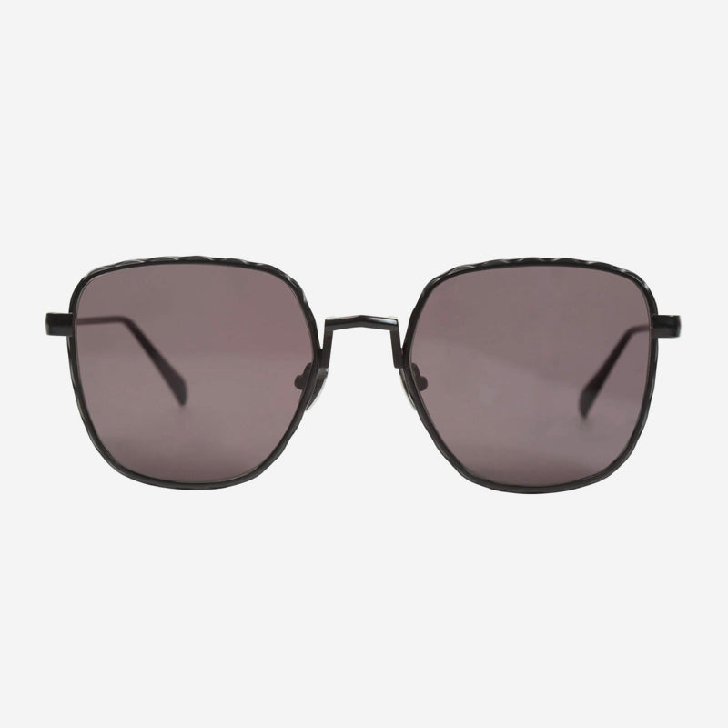 Valley Eyewear - Dotan in Matte Black Titanium/Black Lens