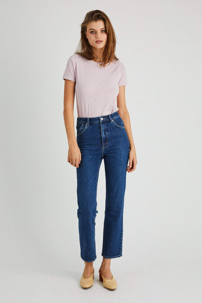 Rolla's - Original Straight Jeans in Daria Blue Organic