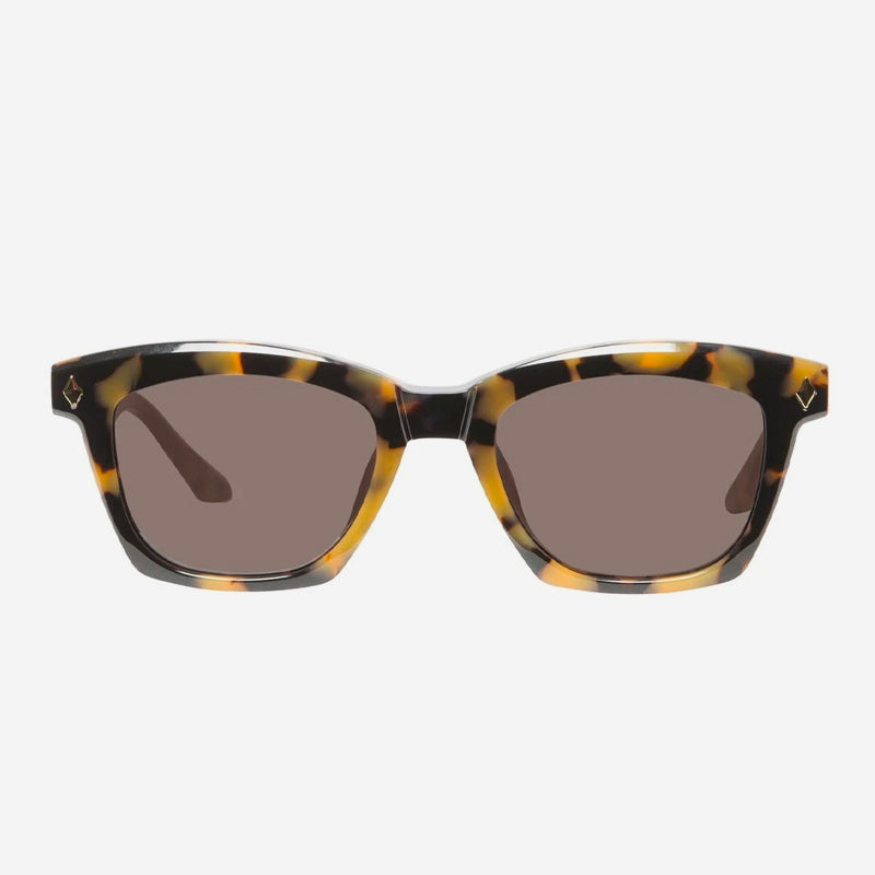 Valley - Hutch in Yellow Tort/Gold Metal Trim with Brown Lens