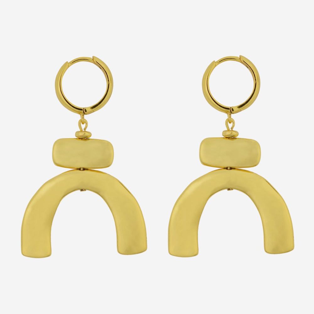 Brie Leon - Lampara Earrings, Gold