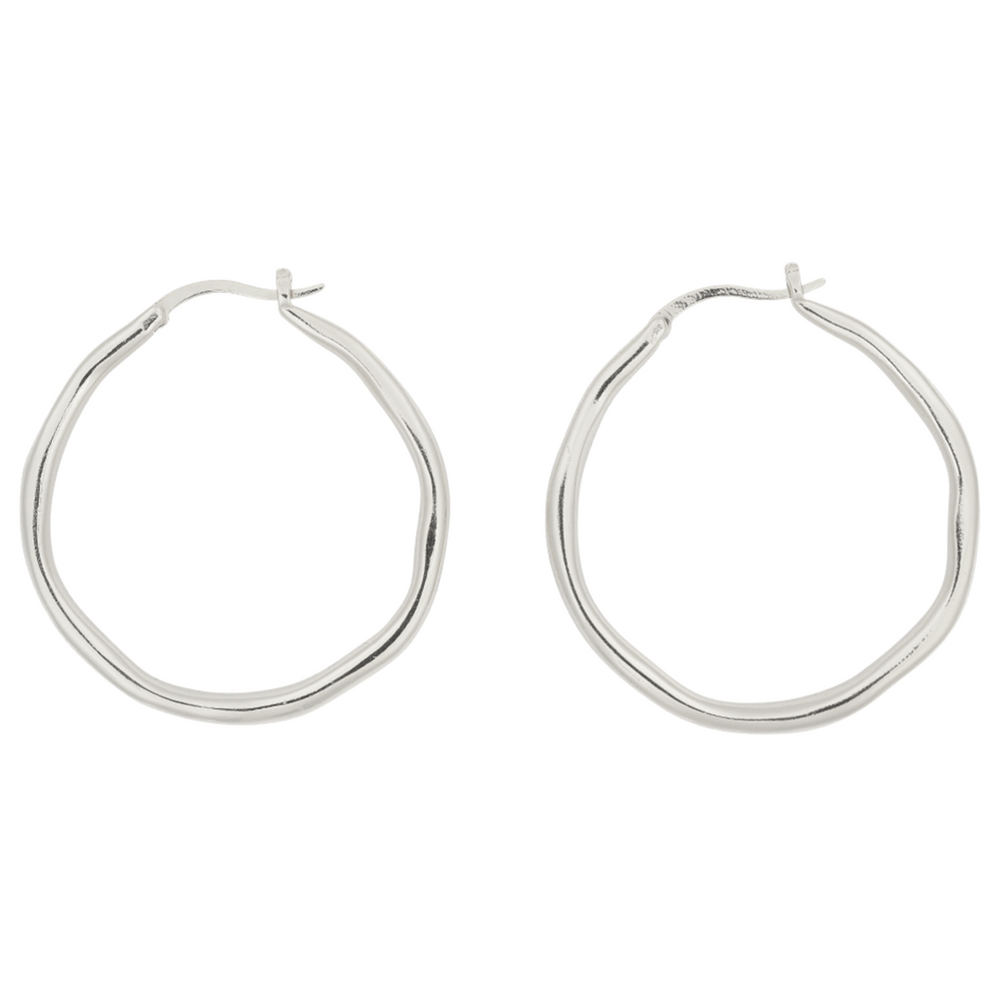 Brie Leon - Organica Hoops Large in Silver