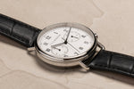 The Horse - Chronograph Watch in Silver/ White Dial/ Black Band