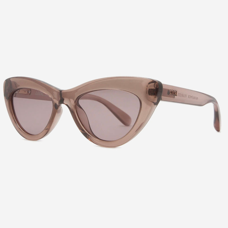 Local Supply - Marina Sunglasses in Polished Plum with Light Plum Lens