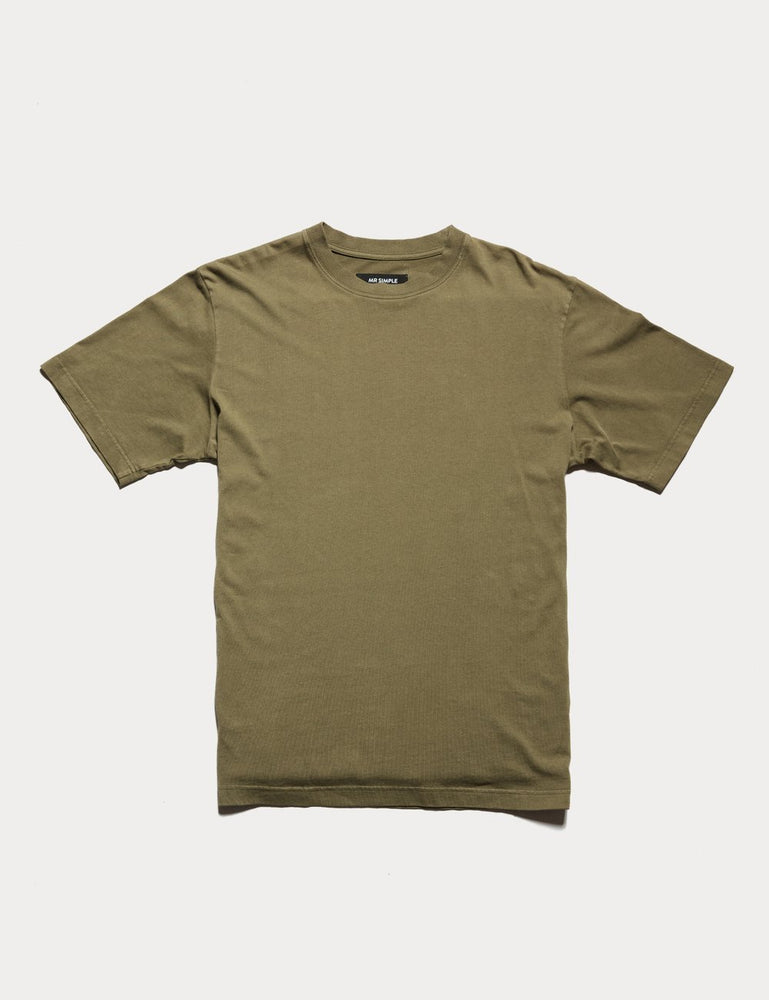 Mr Simple - Fair Trade Heavy Weight Tee in Army