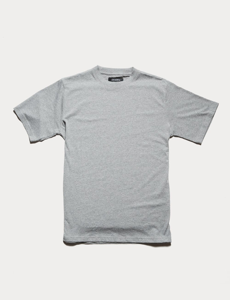 Mr Simple - Fair Trade Heavy Weight Tee in Grey Marle