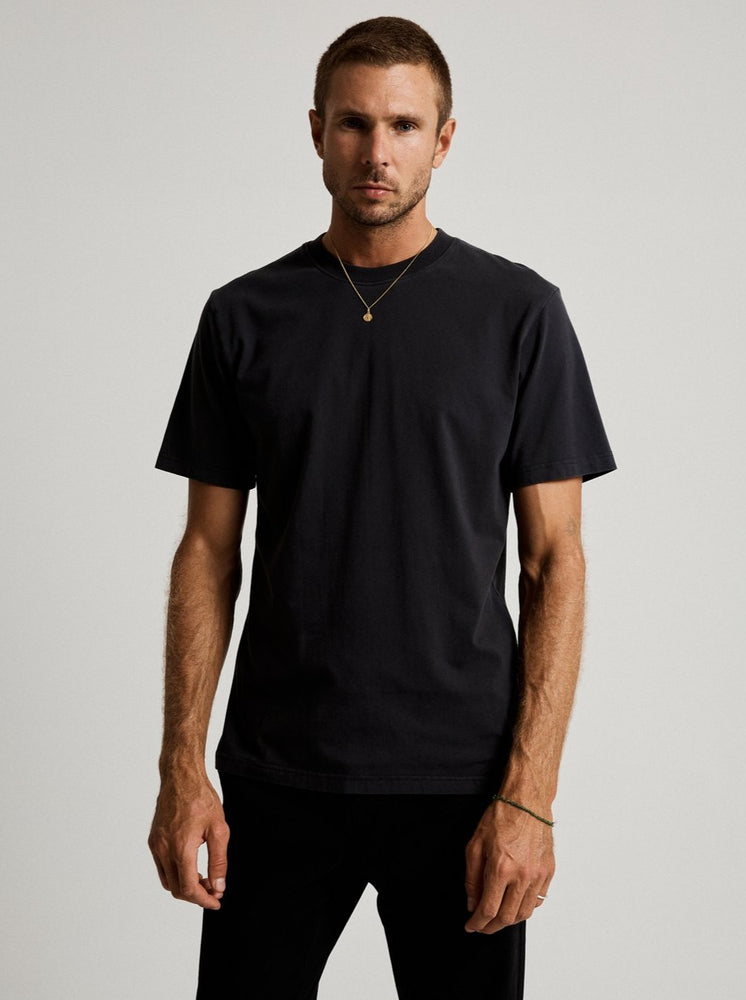 Mr Simple - Fair Trade Heavy Weight Tee in Washed Black