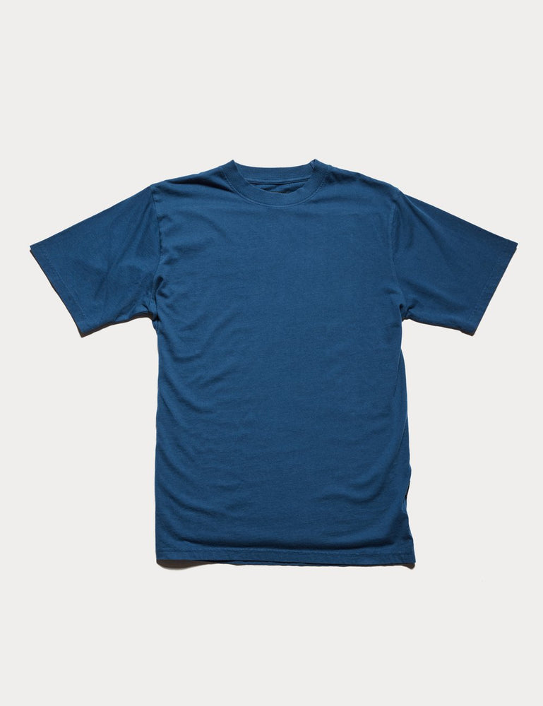 Mr Simple - Fair Trade Heavy Weight Tee in Washed Indigo