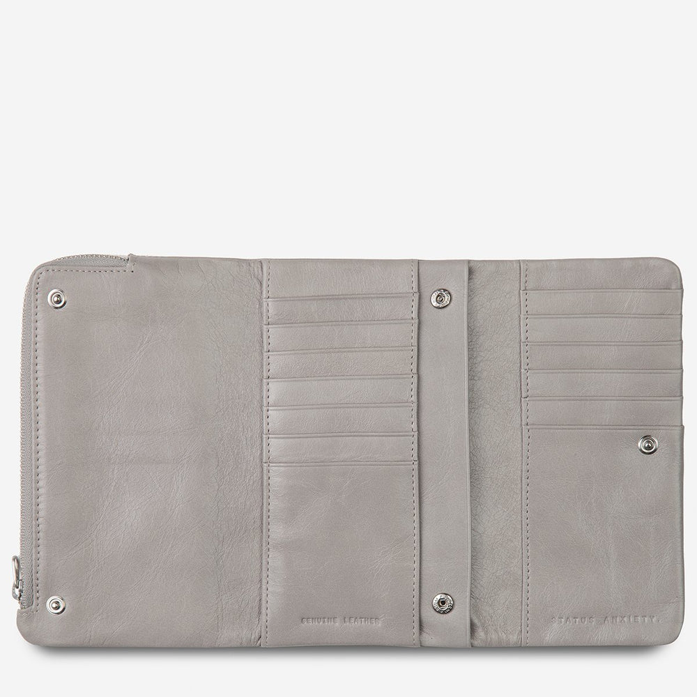 Status Anxiety - Audrey Wallet in Light Grey