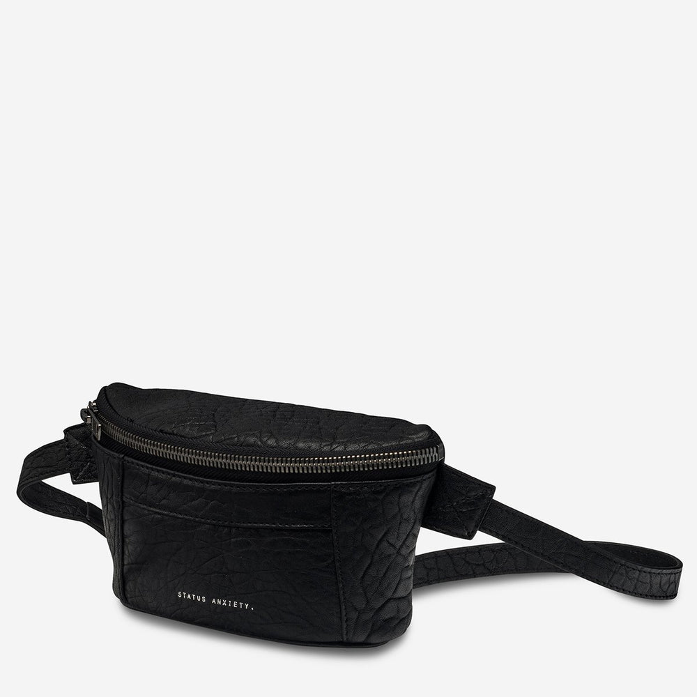Status Anxiety - Best Lies Bum Bag in Black Bubble