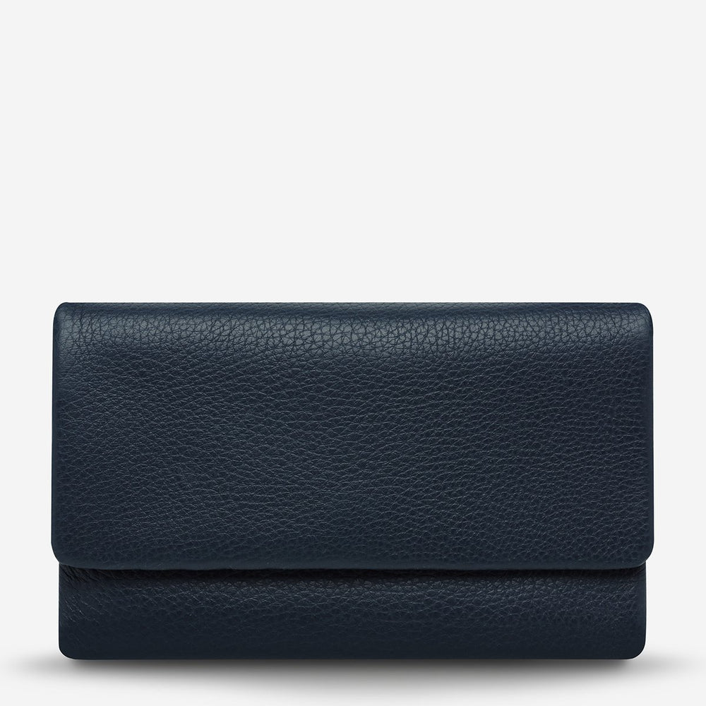 Status Anxiety - Audrey Wallet in Navy Pebble