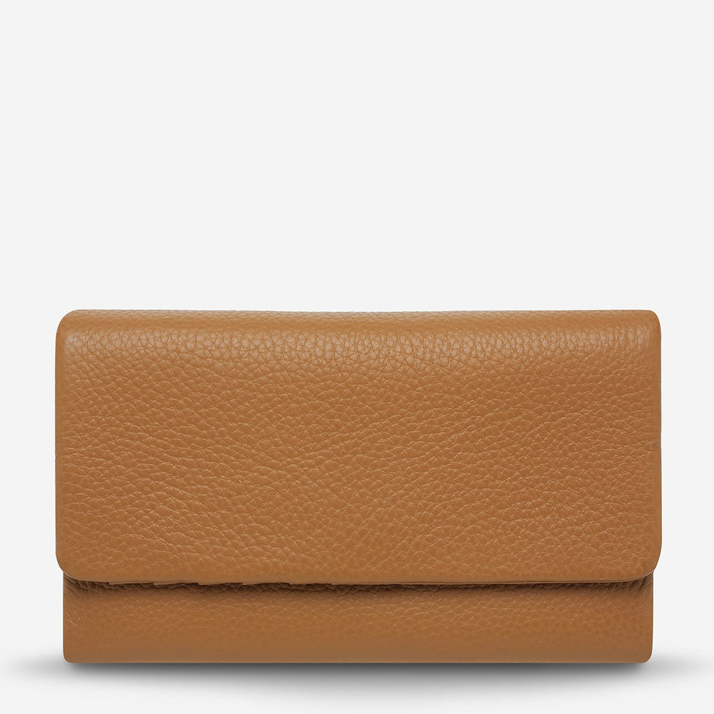 Status Anxiety - Audrey Wallet in Pebble Tan