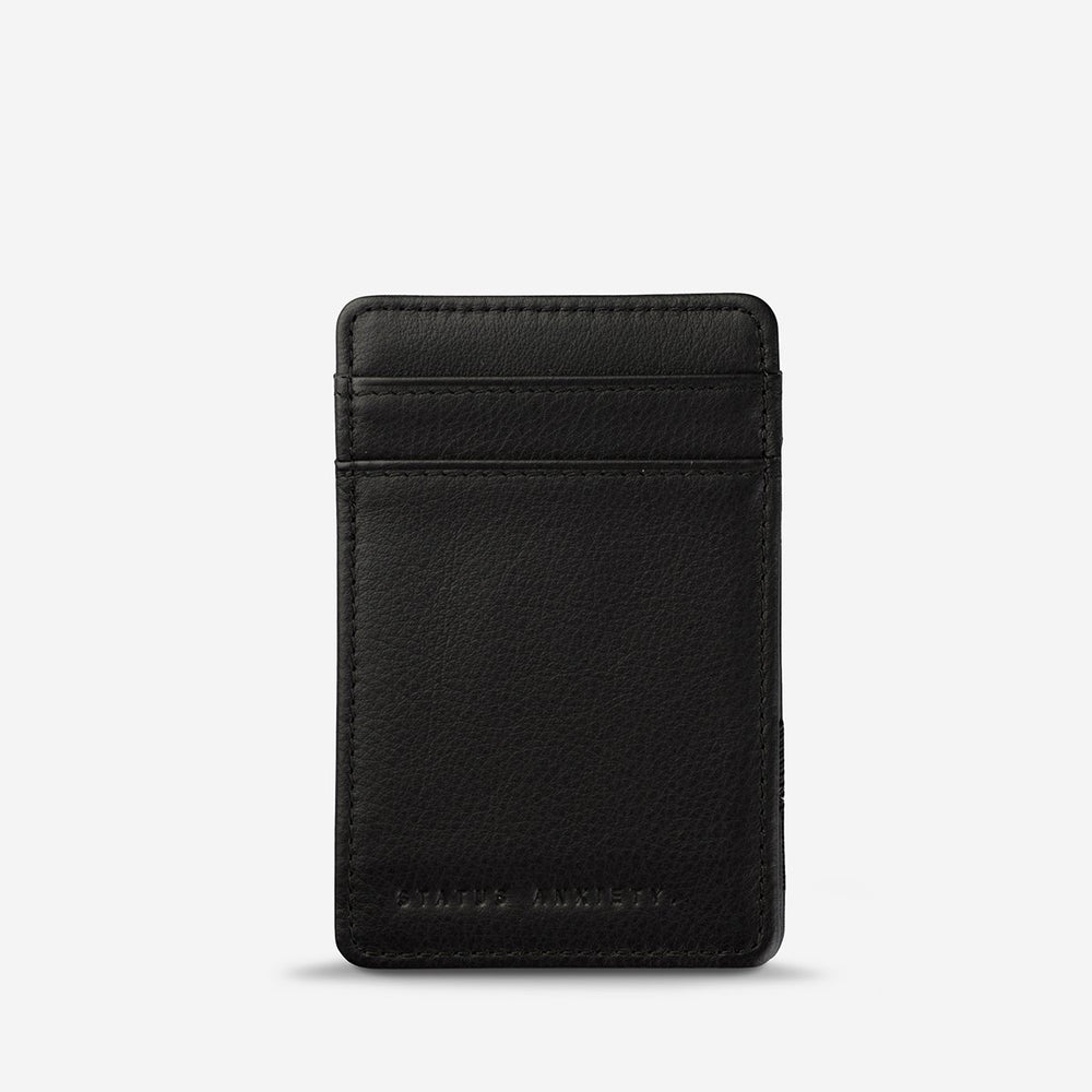Status Anxiety - Flip Wallet in Black