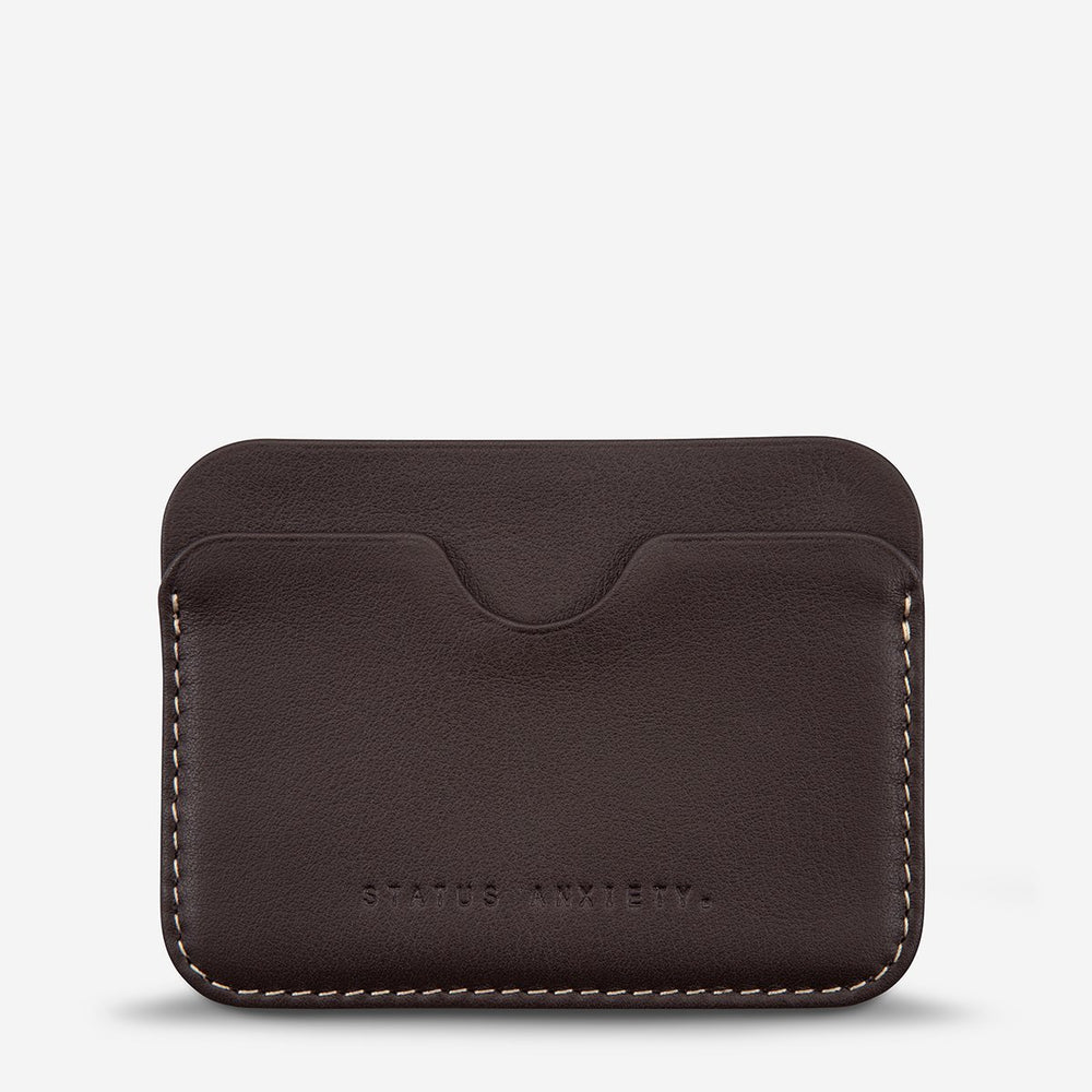 Status Anxiety - Gus Wallet in Chocolate