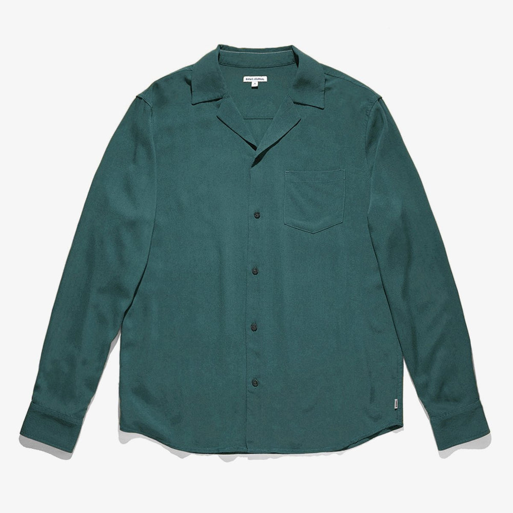 Banks Journal - Nashua L/S Shirt in Seaweed
