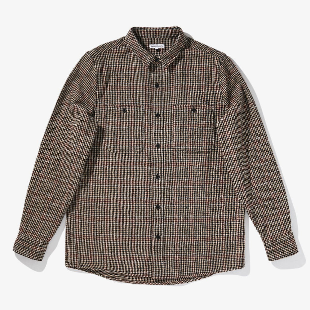 Banks - Somedays Houndstooth L/S Shirt in Carob