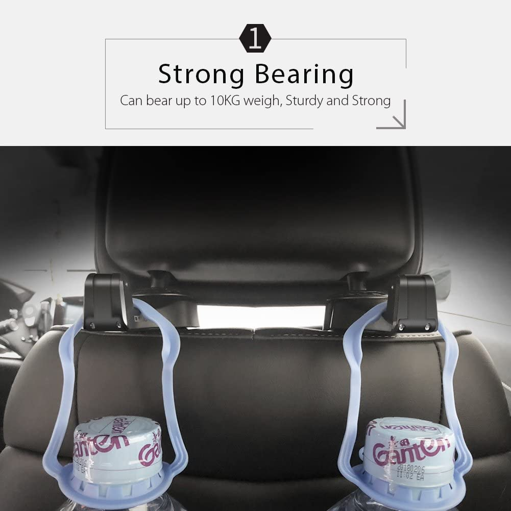 Car Seat Rear Hook with Mobile Phone Holder