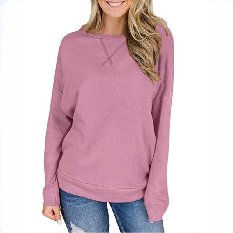 Women's Home Furnishing Comfortable Fashion Round Neck Top
