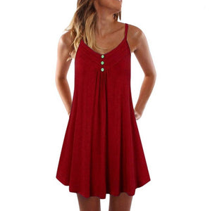 Loose Sexy V-neck Vest Dress