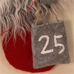 Christmas Advent Calendar Forest Man Christmas Ornaments Lobby Home Living Room Door Wall Party Pendant Decorations