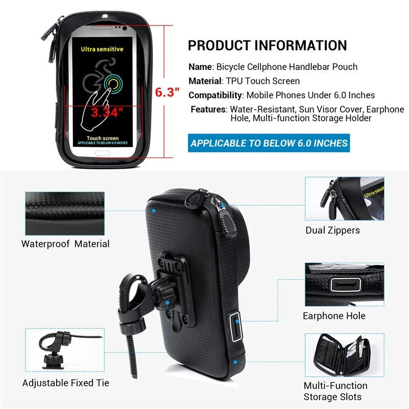 🎁Buy 3  50% OFF🔥Waterproof Motorcycle Phone Mount