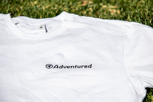 Adventured white tee