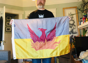 Medium - 2 ft x 3 ft SF Fog & Gold Flag