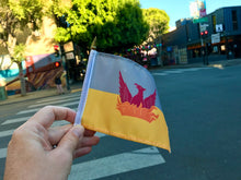 Load image into Gallery viewer, Mini Flag - SF Fog & Gold Flag