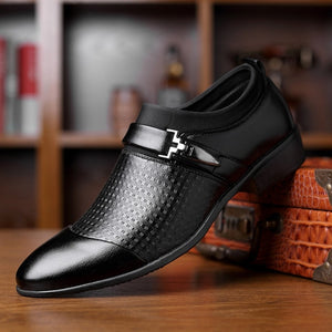 Mens Patent Leather Pointed Toe Slip On Business Dress Formal Shoes Oxfords Size