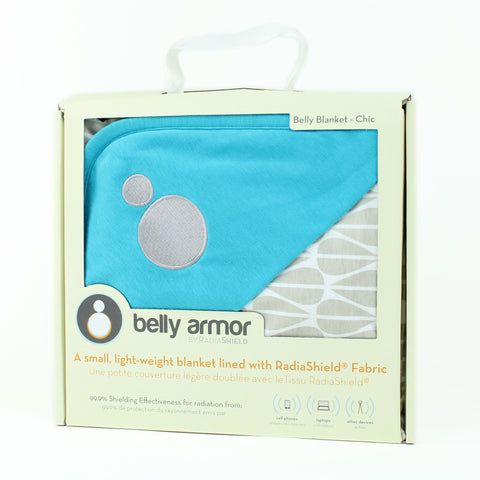 "Belly Armor Deken - Limited Edition ""Azure"" Bio Katoen"