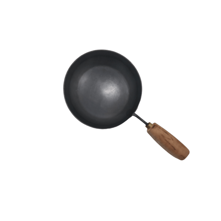 Iron Tadka Pan With Wooden Handle