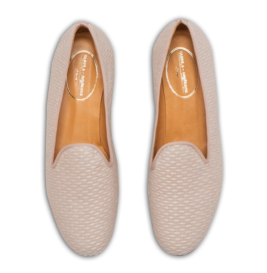 beige linen mules for women