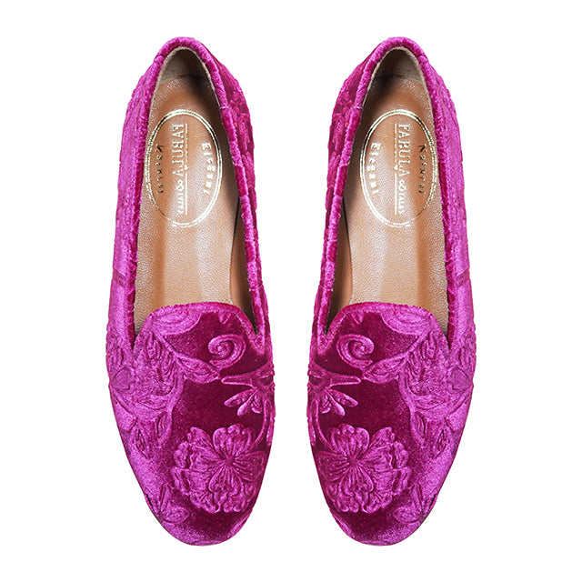 pink velvet slippers for women with flowers