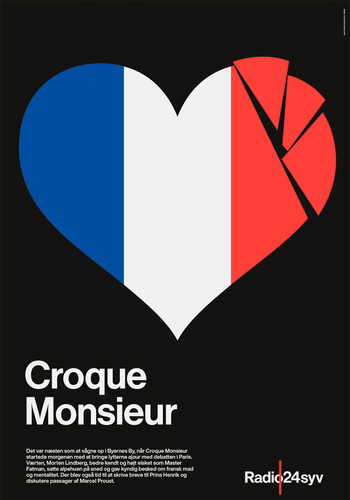 Croque Monsieur - Radio24syv plakat