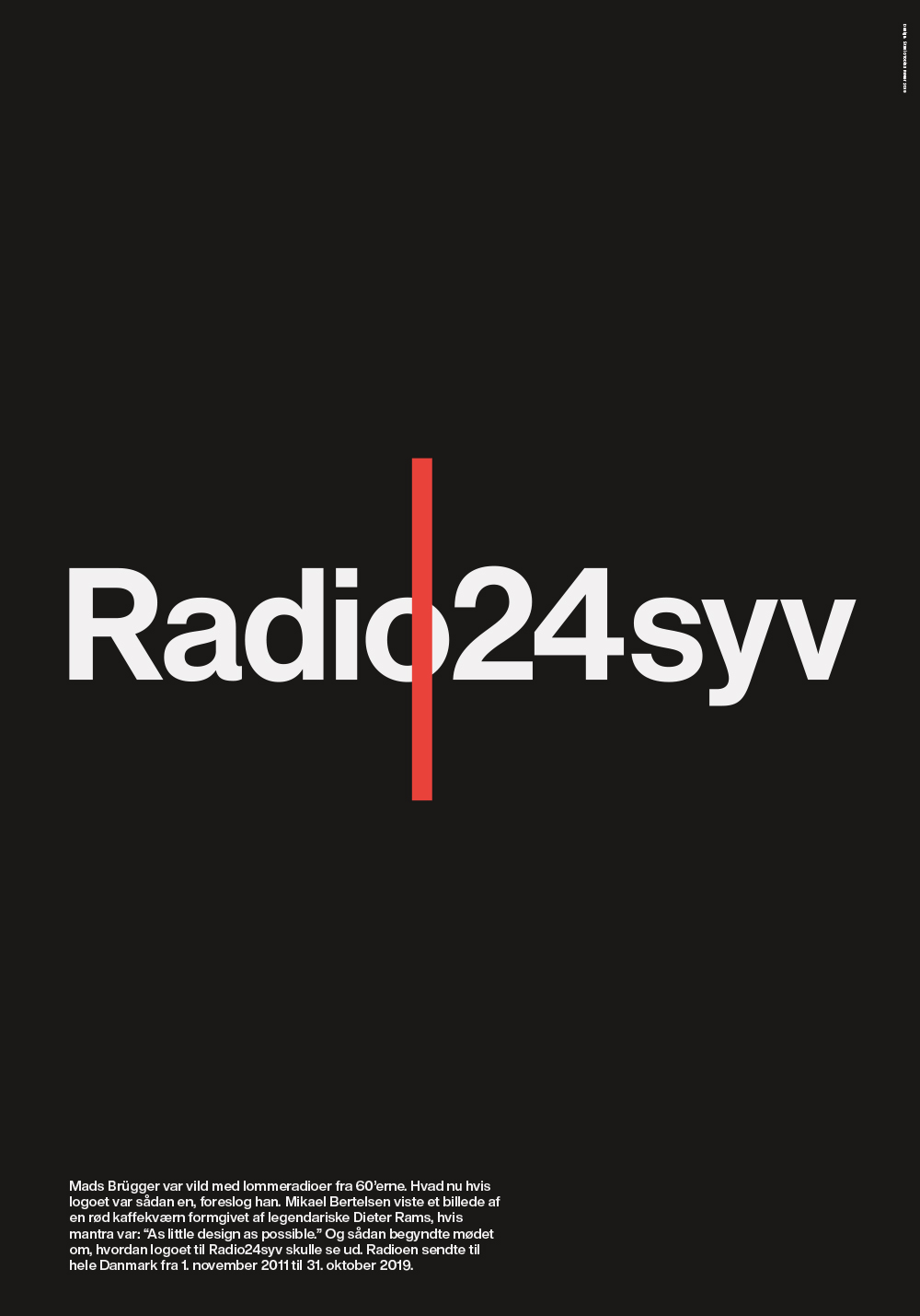 Radio24syv Logoplakat - Sort