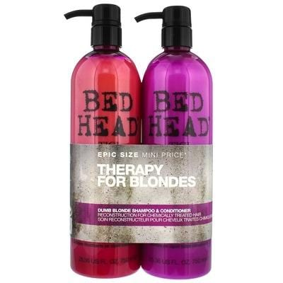 Tigi Bed Head Therapy For Blonde Dumb Blonde Shampoo 750ml + Conditioner 750ml