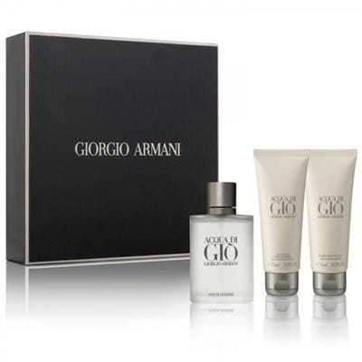 Giorgio Armani Aqua Di Gio 50ml EDT + 75ml After Shave + 75ml Shampoo