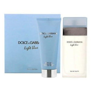 D&G Light Blue 100ml EDT + 100ml Body Lotion